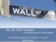 """Die """"Mr. Weit"""" Strategie"""