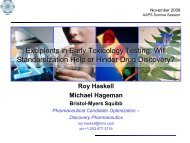 Excipients in Early Toxicology Testing: Will Standardization ... - AAPS