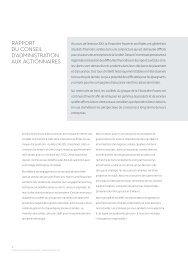 Rapport aux actionnaires - Power Financial Corporation