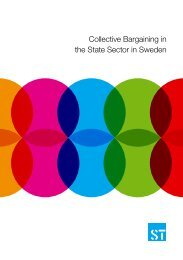 Collective Bargaining in the State Sector in Sweden