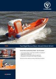 FRR Fast Rigid Rescue Boat, inboard driven - Fr. Fassmer GmbH ...