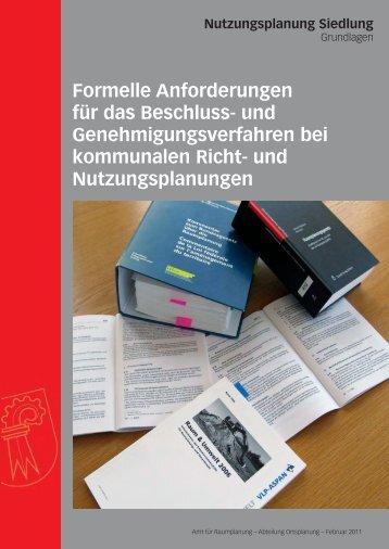 Formelle Anforderungen für das Beschluss - Kanton Basel-Landschaft