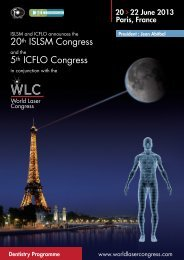 20th ISLSM Congress 5th ICFLO Congress - Colloquium