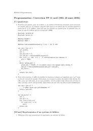 Programmation : Correction TP 11 noté (S03, 23 ... - La Recherche