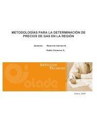 metodologías para la determinación de precios de gas en la región