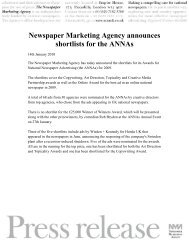 Newspaper Marketing Agency announces shortlists ... - Creativematch