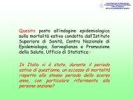 i dati prima parte - EpiCentro - Istituto Superiore di Sanità
