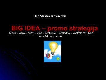 Big Idea - Razvoj karijere