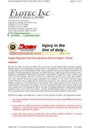 Oxygen Regulator Flash Severely Burns One Fire ... - Technical-Diving
