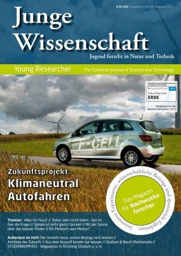 Download Leseprobe 96 als PDF - Junge Wissenschaft