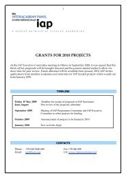 GRANTS FOR 2010 PROJECTS - Science Development Network