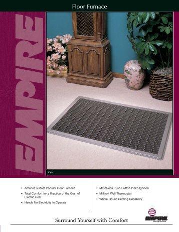 Floor Furnace Models 3588 2 5088 2 7088 2 Empire Heating