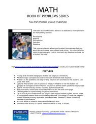 Math Book of Problems Series - Pearson Learning Solutions