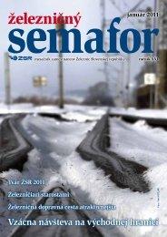 Január 2011 - ŽSR