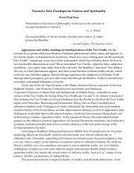 Toward a New Paradigm for Science and ... - David Paul Boaz