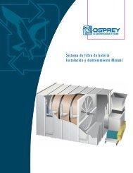 Sistema de filtro de batería Instalación y mantenimiento Manual