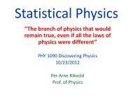 Statistical Physics (pdf) - FSU High Energy Physics