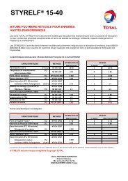 STYRELF® 15-40 - total raffinage marketing