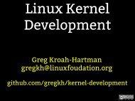 Linux Kernel Development - The Linux Foundation