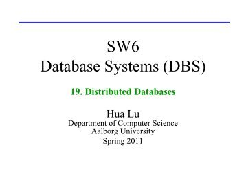 19. Distributed Databases