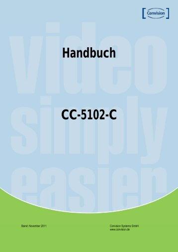 Handbuch CC-5102-C - Convision