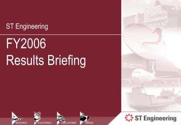 Presentation Slides - Singapore Technologies Engineering