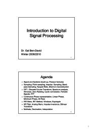 Introduction to Digital Signal Processing - Technion moodle