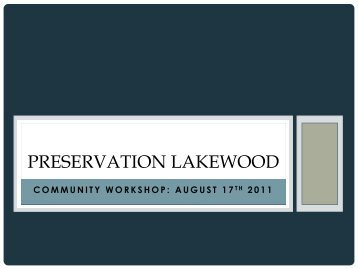 preservation in lakewood - City of Lakewood, Ohio