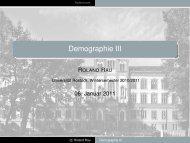 Demographie III - Universität Rostock