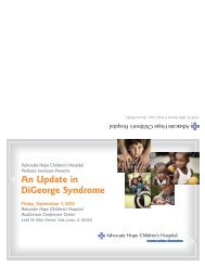 An Update in DiGeorge Syndrome - Advocate Health Care