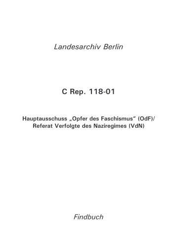 """Hauptausschuss """"Opfer des Faschismus"""" (OdF) - Landesarchiv Berlin"""