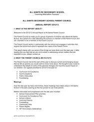 2012-13 - All Saints Secondary School