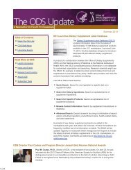 ODS Update | Summer 2013 - Office of Dietary Supplements ...