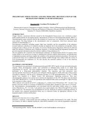 preliminary stress testing and spectroscopic identification of the ...