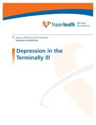 Depression in the Terminally Ill - Fraser Health