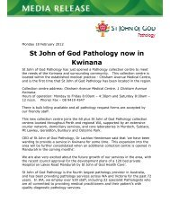 New Collection Centre open in Kwinana - St John of God Health Care