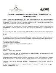 convocatoria para concurso jóvenes talentos 2012-2 instrumentistas