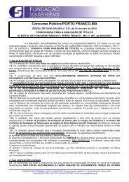 Edital Nº 011 - Convocação para Avaliação de Títulos - Fundação ...