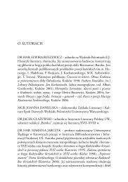O AUTORACH - Wydawnictwo Uniwersytetu Jagiellońskiego