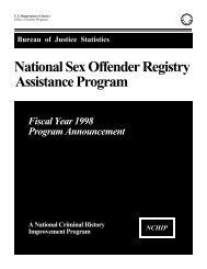 National Sex Offender Registry Assistance Program - Bureau of ...