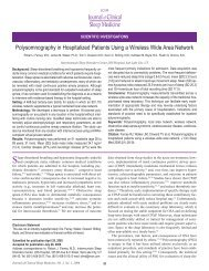 Polysomnography in Hospitalized Patients Using a Wireless Wide ...