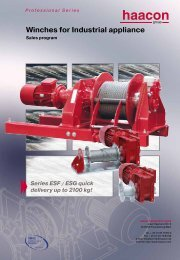 Winches for Industrial appliance - haacon.de