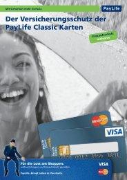 Der Versicherungsschutz der PayLife Classic Karten - Kreditkarte.at