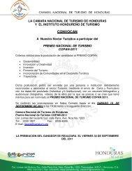 CONVOCAN - Cámara Nacional de Turismo de Honduras