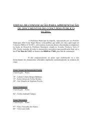 Clique aqui para ler o edital. - Prefeitura Municipal de Itápolis