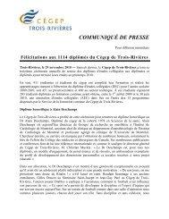 Félicitations aux 1114 diplômés du Cégep de Trois-Rivières