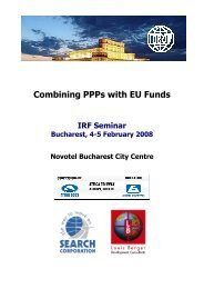 Combining PPPs with EU Funds - International Road Federation