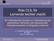 Was CLIL für Lernende leichter macht - faecher.lernnetz.de