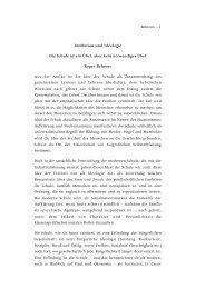 Behrens – 1 Institution und Ideologie Die Schule ist ... - Roger Behrens
