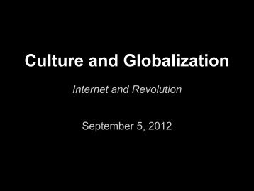 Democracy - Culture and Globalization